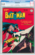 Golden Age (1938-1955):Superhero, Batman #42 (DC, 1947) CGC VG/FN 5.0 Off-white pages....
