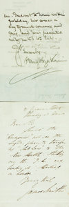 Autographs:Authors, [British Authors]. Group Lot of Autograph and Typed Letters Signed. Includes Albert Smith, James Smith, Goldwin Smith, Mary ...