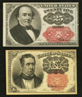 Fractional Currency:Fifth Issue, 10¢ and 25¢ Fifth Issue Notes.. ... (Total: 2 notes)
