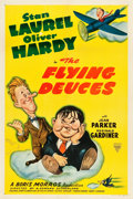 "Movie Posters:Comedy, The Flying Deuces (Astor, R-1940s). One Sheet (27.25"" X 41"").. ..."