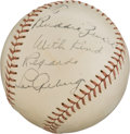 Autographs:Baseballs, 1930's Lou Gehrig Single Signed Baseball, PSA/DNA NM+ 7.5 - Highest Graded Example!...