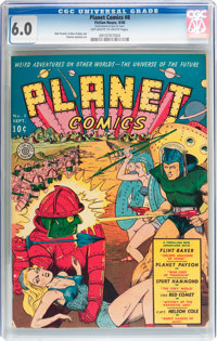 Planet Comics #8 (Fiction House, 1940) CGC FN 6.0 Off-white to white pages