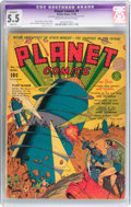 Golden Age (1938-1955):Science Fiction, Planet Comics #9 (Fiction House, 1940) CGC Apparent FN- 5.5 Slight (A) Cream to off-white pages....