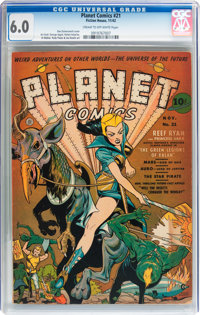Planet Comics #21 (Fiction House, 1942) CGC FN 6.0 Cream to off-white pages