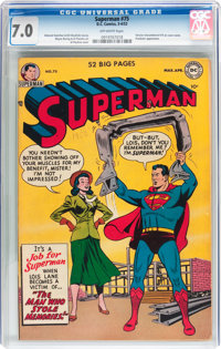 Superman #75 (DC, 1952) CGC FN/VF 7.0 Off-white pages