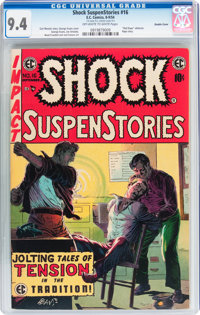 Shock SuspenStories #16 Double Cover (EC, 1954) CGC NM 9.4 Off-white to white pages
