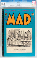Mad #15 (EC, 1954) CGC VF/NM 9.0 White pages