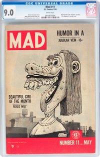 Mad #11 (EC, 1954) CGC VF/NM 9.0 White pages
