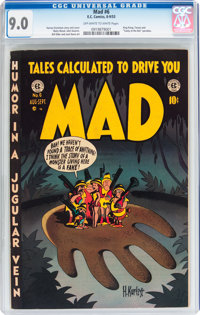 Mad #6 (EC, 1953) CGC VF/NM 9.0 Off-white to white pages