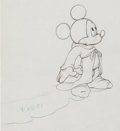 Animation Art:Production Drawing, Fantasia Mickey Mouse Sorcerer's Apprentice Animation ArtProduction Drawing (Walt Disney, 1940)....