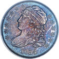 Proof Bust Dimes, 1834 10C Large 4, JR-6, PR65 PCGS. High R.7 or R.8 as a Proof....