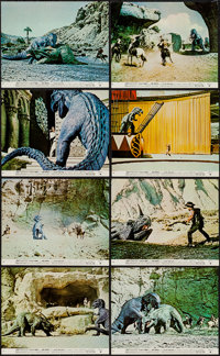 """The Valley of Gwangi (Warner Brothers, 1969). Mini Lobby Card Set of 8 (8"""" X 10""""). Science Fiction. ... (Total..."""