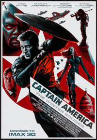 """Captain America: The Winter Soldier (Walt Disney Pictures, 2014). IMAX Poster (13"""" X 19""""). Action"""