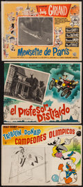 """Movie Posters:Animated, The Olympic Champ (Peliculas Nacionales, R-1960s). Mexican LobbyCards (2) (12"""" X 16"""" & 12.5"""" X 16.5"""") & Trimmed MexicanLob... (Total: 3 Items)"""
