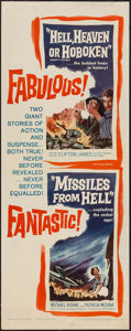"Movie Posters:War, Hell, Heaven or Hoboken/Missiles from Hell Combo (NTA, 1959).Insert (14"" X 36""). War.. ..."