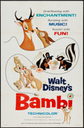 """Movie Posters:Animation, Bambi (Buena Vista, R-1966). One Sheet (27"""" X 41"""") Style A.Animation.. ..."""