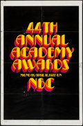 "Movie Posters:Miscellaneous, 44th Annual Academy Awards Poster (AMPAS, 1972). One Sheet (27"" X 41""). Miscellaneous.. ..."