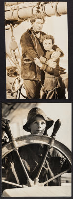 "Captains Courageous (MGM, 1937). Trimmed Portrait Photos (2) (9"" X 11.75"", 8"" X 12.5""). Adventure..."