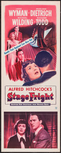 """Movie Posters:Hitchcock, Stage Fright (Warner Brothers, 1950). Insert (14"""" X 36"""").Hitchcock.. ..."""