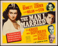 "Movie Posters:War, The Man I Married (20th Century Fox, 1940). Half Sheet (22"" X 28"")Style B. War.. ..."