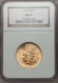 Indian Eagles, 1909-S $10 MS61 NGC....
