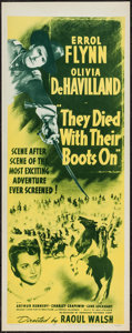 "Movie Posters:Western, They Died with Their Boots On (Dominant, R-1956). Insert (14"" X 36""). Western.. ..."