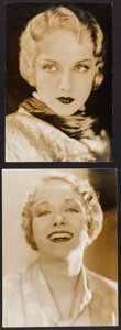 """Movie Posters:Miscellaneous, Leila Hyams by George Hurrell (MGM, 1930). Trimmed Portrait Photos (2) (8.75"""" X 11.75"""" & 8.5"""" X 12""""). Miscellaneous.. ... (Total: 2 Items)"""