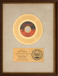 "Music Memorabilia:Awards, Aretha Franklin ""Don't Play That Song"" RIAA Gold Record Award(Atlantic 45-2751, 1970). ..."