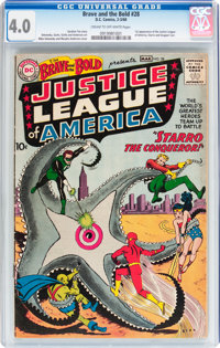 The Brave and the Bold #28 Justice League of America (DC, 1960) CGC VG 4.0 Cream to off-white pages