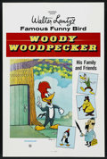 """Movie Posters:Animated, Woody Woodpecker Stock (Universal, R-1970s). One Sheet (27"""" X 41"""").Animated. Starring the voice of Grace Stafford. Created ..."""