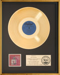Music Memorabilia:Awards, Frank Sinatra The Sinatra Christmas Album RIAA Gold RecordAward (Capitol SM-894, 1963). ...