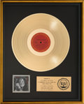 Music Memorabilia:Awards, Janis Joplin Joplin In Concert RIAA Gold Record Award(Columbia C2X-31160, 1972)....
