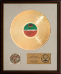 Music Memorabilia:Awards, Spinners Mighty Love RIAA Gold Record Award (AtlanticSD-7296, 1974). ...