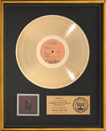 Music Memorabilia:Awards, The Band Rock of Ages RIAA Gold Record Award (CapitolSABB-11045, 1972). ...