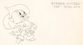 Animation Art:Production Drawing, The Robber Kitten Production Drawing Animation Art (WaltDisney, 1935)....