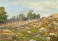 Fine Art - Painting, American:Modern  (1900 1949)  , GEORGE W. PICKNELL (American, 1864-1943). Late September.Oil on panel. 10-3/4 x 15-1/2 inches (27.3 x 39.4 cm). Signed ...