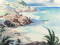 Works on Paper, JOHN PIKE (American, 1911-1979). Hawaiian Shoreline. Watercolor on paper. 21-3/8 x 28-3/8 inches (54.3 x 72.1 cm) (sight...