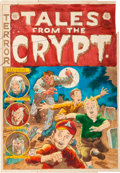 Memorabilia:Comic-Related, EC Tales From the Crypt #39 Cover Silverprint Proof (EC, 1953)....