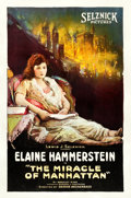 "Movie Posters:Drama, The Miracle of Manhattan (Selznick, 1921). One Sheet (27"" X 41"")....."