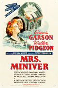 "Movie Posters:Drama, Mrs. Miniver (MGM, 1942). One Sheet (27"" X 41"") Style D.. ..."