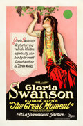 "Movie Posters:Drama, The Great Moment (Paramount, 1921). One Sheet (27"" X 41"") Style A....."