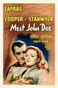 "Movie Posters:Drama, Meet John Doe (Warner Brothers, 1941). Autographed One Sheet (27"" X 41"").. ..."