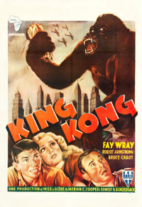 "King Kong (RKO, R-1950). French North Africa One Sheet (27.5"" X 40""). Horror"