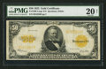 Large Size:Gold Certificates, Fr. 1200 $50 1922 Gold Certificate PMG Very Fine 20 Net.. ...