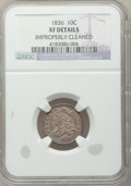Bust Dimes: , 1836 10C -- Improperly Cleaned -- NGC Details. XF. NGC Census: (7/193). PCGS Population (29/204). Mintage: 1,190,000. Numis...