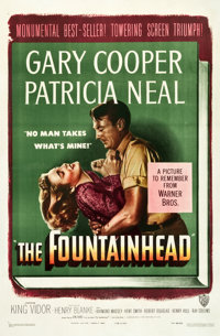 "The Fountainhead (Warner Brothers, 1949). One Sheet (27"" X 41"")"