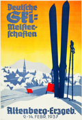 "Movie Posters:Miscellaneous, Germany Travel Poster (C.1937). Poster (23.25"" X 33.25"").. ..."