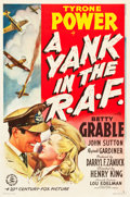 "Movie Posters:War, A Yank in the R.A.F. (20th Century Fox, 1941). One Sheet (27"" X41"") Style A.. ..."