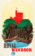 "Movie Posters:Miscellaneous, Royal Windsor Travel Poster (Great Western Railway, 1935). Poster(25"" X 40"") Artist: Edward McKnight Kauffer.. ..."