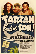"Movie Posters:Adventure, Tarzan Finds a Son (MGM, 1939). Autographed One Sheet (27"" X40.75"") Style D.. ..."